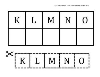 CUT & PASTE: Uppercase Alphabet Match