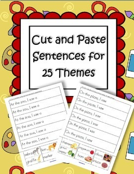 CUT and PASTE Sentences for 25 Themes