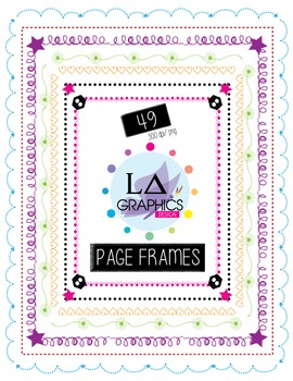 CUTE AND FANCY PAGE FRAMES SET