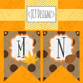CUTE AUTUMN BANNER: JUST PRINT, CUT, AND HANG!
