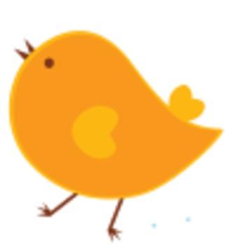 CUTE BIRD DIGITAL SUMMER CLIP ART - personal & commercial use