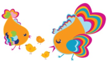 CUTE BIRD DIGITAL SUMMER CLIP ART - personal & commercial use