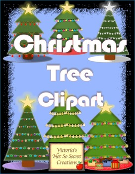 CUTE CHRISTMAS TREE CLIPART ~ PNG FORMATTED ~ High Resolution