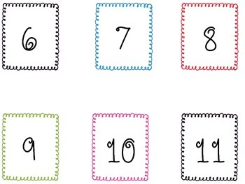 CUTE Curly Framed Cubby/Calendar Cards