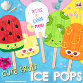CUTE FRUIT POPSICLES - ICE POPS - editable student gifts,