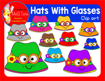 CUTE HATS WITH FUN GLASSES CLIPART