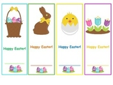 CUTE Happy Easter Bookmarks