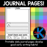 CUTE Kindergarten journal writing pages with good writing
