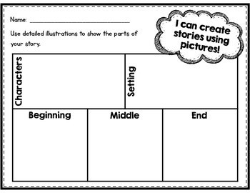 CUTE Kindergarten writing pages using pictures, words, & sentences!