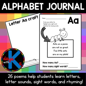 Letter Alphabet Journal With Poems Sentences Craft Page