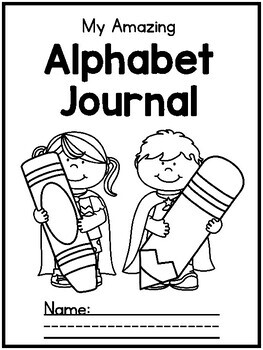 {CUTE} Letter / alphabet journal with poems, sentences, & craft page!