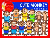CUTE MONKEY CLIPART SET