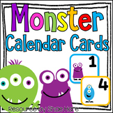 Monster Themed Classroom Calendar Cards - Morning Meeting