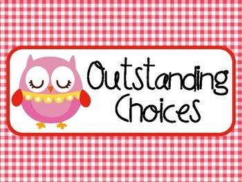 Owl Clip Chart Labels Positive Behavior Management PBIS