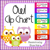 Owl Behavior Clip Chart Labels -  Positive Behavior Management