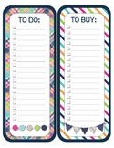 CUTE Printable Teacher To Do / To Buy Lists