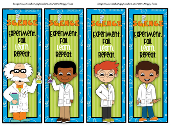 CUTE SCIENTIST BOOKMARKS (science, experiment)