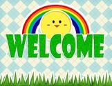 CUTE! Welcome Banners [FREE] (General Banners and Signs up