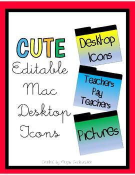 CUTE Editable MacBook Desktop Icons!