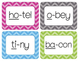 CV/Open Syllables Word Wall Cards
