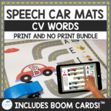 CV Word Speech Car Mats for Apraxia Print and No Print
