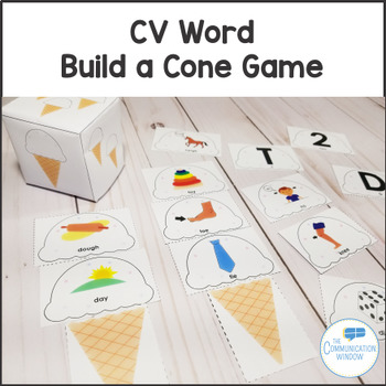 CV Word Cards and Build a Cone Game Pack for Apraxia