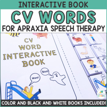 CV Word Interactive Book for Apraxia and Articulation