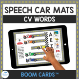 CV Word Speech Therapy Car Mats for Apraxia Interactive Boom Cards