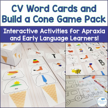CV Words Activities Bundle for Apraxia and Articulation