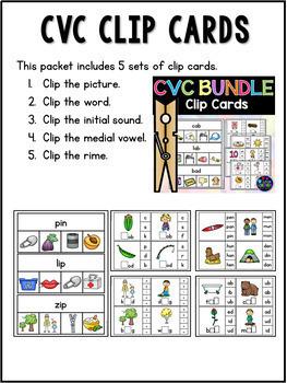 CVC Worksheets and CVC Activities BUNDLE (Short Vowel Activities and Worksheets)