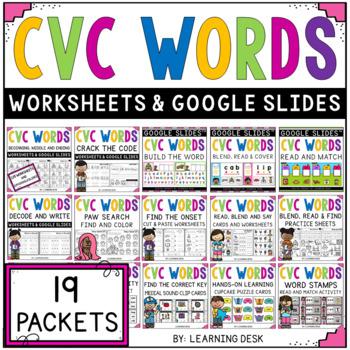 CVC Worksheets and Activities BUNDLE