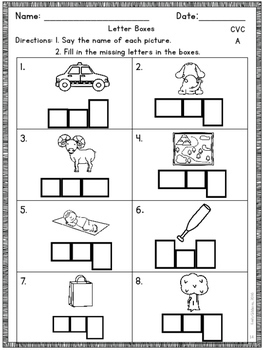 CVC Short A Activities Multisensory Phonics Approach Orton-Gillingham
