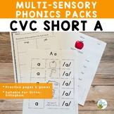 CVC Short A Multisensory Phonics Activities Orton-Gillingham Level 1