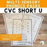 CVC Short U Multisensory Phonics Activities Orton-Gillingham Level 1
