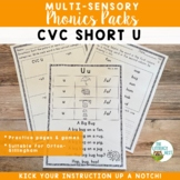 Phonics Packs: CVC Short U   Multisensory Orton-Gillingham
