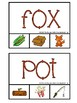 CVC 3 letter word Clip Cards for Phonics (Reading Center)