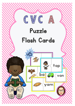 CVC A Puzzle Flash Cards