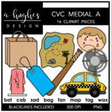CVC (A) Words Clipart {A Hughes Design}