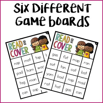 CVC A Words Read & Cover {Small Group Game}