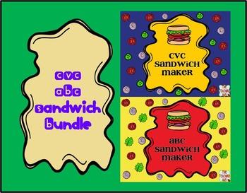 CVC-ABC Sandwich Bundle-Center Activities
