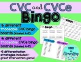 CVC AND CVCe Word Bingo