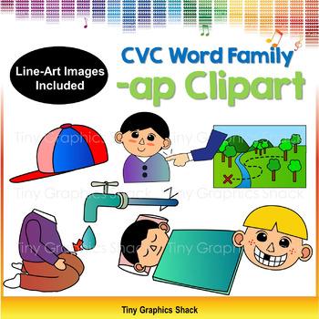 CVC -AP Word Family Clip Art (Short A)
