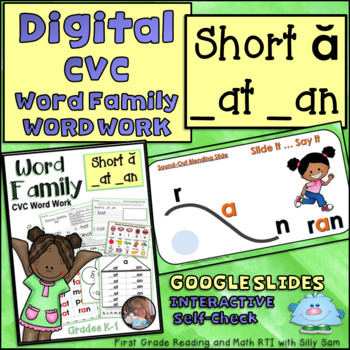 INTERACTIVE GOOGLE SLIDES CVC SHORT A AT AN Word Family DIGITAL & PRINT