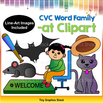 CVC -AT Family Clip Art (Short A)