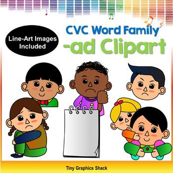 CVC -AD Family Clip Art (Short A)