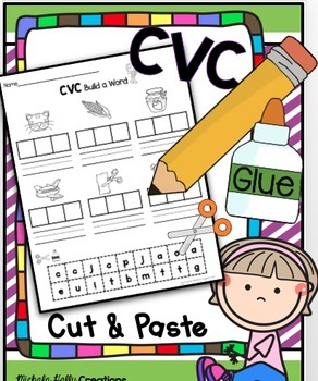 CVC Activities BUNDLE - Literacy Centers - Worksheets