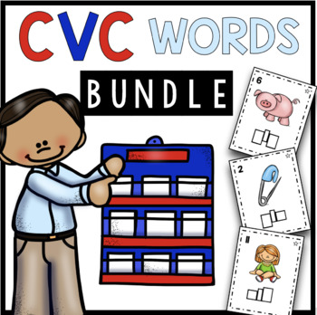 CVC Activities BUNDLE - Literacy Centers - Worksheets