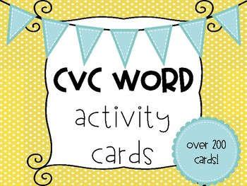 CVC Activities - Differentiated Cards