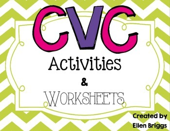 CVC/Word Family Activities for Kindergarten