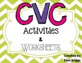CVC/Word Family Activities for Kindergarten